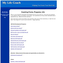 My Life Coach - Coaching Forms for Clients