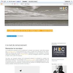 HLC Conseils - Haut Les Coeurs !: L'e-mail de remerciement
