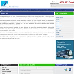 Get Inexpensive Coach Hire Services In London