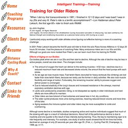Coach Hughes: Training for Older Riders