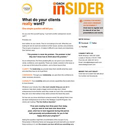 Coach Insider - What do your clients really want?