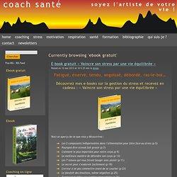 Coach Santé: ebook gratuit