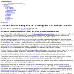 Coachella Reveals Rising Role of Technology for 2015 Summer Concerts