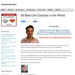 50 Best Life Coaches in the World — Freedom Education