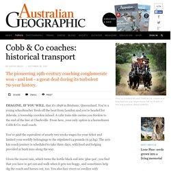 Cobb & Co coaches: historical transport