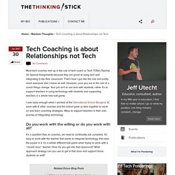 Tech Coaching is about Relationships not Tech