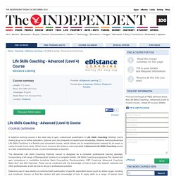 Life Skills Coaching - Advanced (Level 4) Course , eDistance Learning