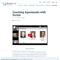 Coaching Agreements with Scrum