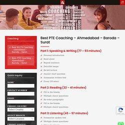 PTE Coaching Classes in Ahmedabad, Vadodara, Surat