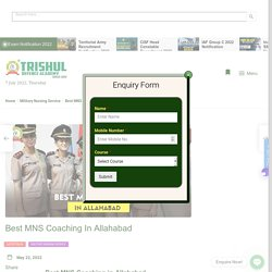 best MNS online Coaching In Allahabad
