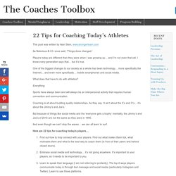22 Tips for Coaching Today's Athletes – The Coaches Toolbox