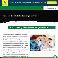Best PTE Online Coaching in Australia
