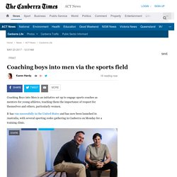 Coaching boys into men via the sports field
