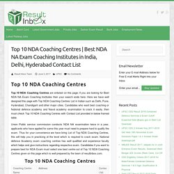 Top 10 NDA Coaching Centres