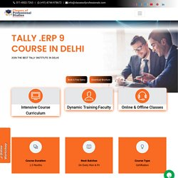 Tally Coaching, Classes & Programs in Delhi