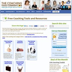 Free Coaching Tools, Forms and Resources