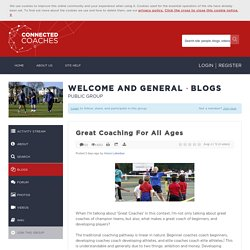 Great Coaching For All Ages
