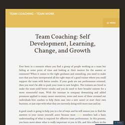 Team Coach – Improve team performance
