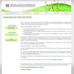 Coaching de prise de poste - Equipe & Développement