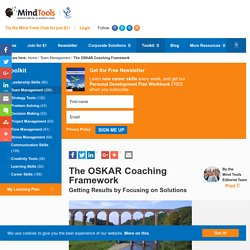 The OSKAR Coaching Framework - From MindTools.com