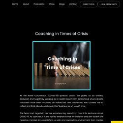Coaching in Times of Crisis