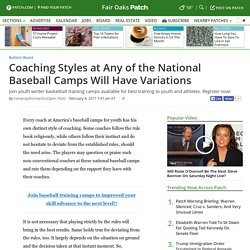 National Baseball Camps, America's Baseball Camps for Youth