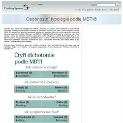 Coaching Systems - Osobnostní typologie podle MBTI®