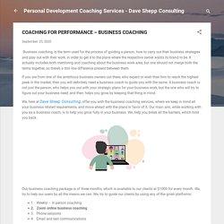 COACHING FOR PERFORMANCE – BUSINESS COACHING