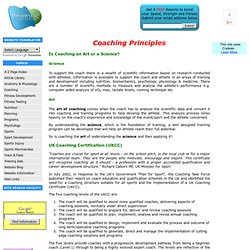 coaching Principles UKCC