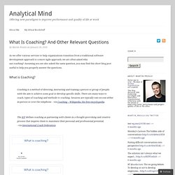 What Is Coaching? And Other Relevant Questions | Analytical-Mind