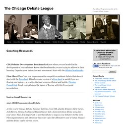The Chicago Debate League