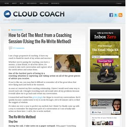 How to Get The Most from a Coaching Session - Take Notes!