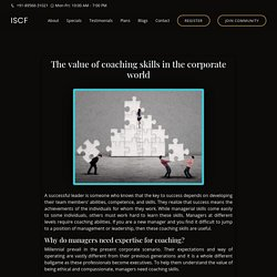 The value of coaching skills in the corporate world