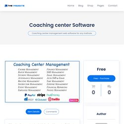 Organize, Manage and Grow your Coaching Center with Our Coaching Center Management Software