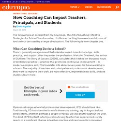 How Coaching Can Impact Teachers, Principals, and Students