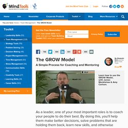 The GROW Model - Coaching Training From MindTools.com