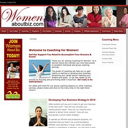 Coaching for Women | Business Coaching for Women | Career Coaching for Women | Women About Biz