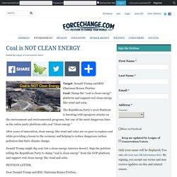 Coal is NOT CLEAN ENERGY