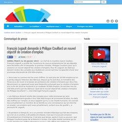 Coalition Avenir Québec » François Legault demande à Philippe Couillard un nouvel objectif de création d'emplois