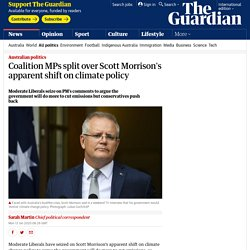Coalition MPs split over Scott Morrison's apparent shift on climate policy