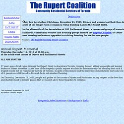 The Rupert Coalition - Rupert Residential Community Services Inc