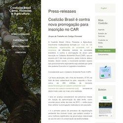 Coalizão Brasil é contra nova prorrogação para inscrição no CAR
