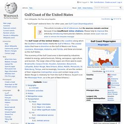 Gulf Coast of the United States - Wikipedia