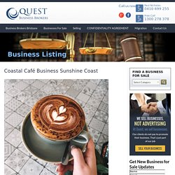 Coastal Café Business Sunshine Coast