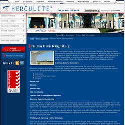 Coastline Plus Awning Fabrics - Herculite