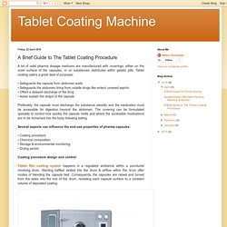 Tablet Coating Machine: A Brief Guide to The Tablet Coating Procedure