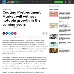 Coating Pretreatment Market will witness notable growth in the coming years