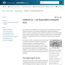 Cobb & Co. – an Australian transport icon
