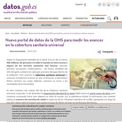 Nuevo portal de datos de la OMS para medir los avances en la cobertura sanitaria universal