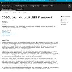 COBOL pour Microsoft .NET Framework